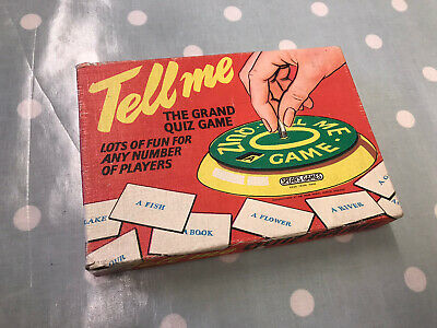 Vintage 1960's Tell Me The Grand Quiz Game - Spear's Games • 3.20£