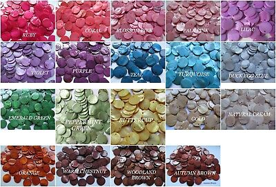 25 - 50 MOTHER OF PEARL Dyed Charm BEADS Counters Disc ~ Jewellery Making Crafts • 0.99£