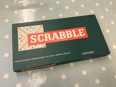 Vintage Scrabble Board Game Spears & Sons 1955 Complete • 4.20£