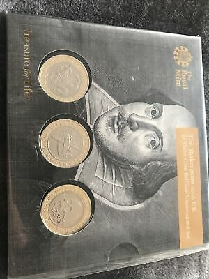 2pound 2016 Shakespeare Genuine.uncirculated Set • 12.50£