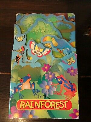 In The Rainforest Fold Out Book Frogs Butterflies Reptiles Animals Insects Birds • 1.89£