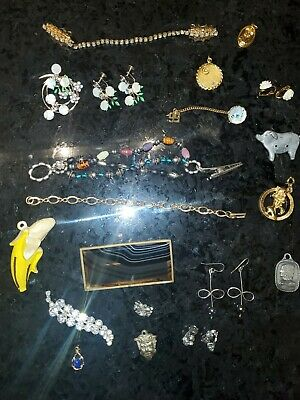 $ CDN22.72 • Buy Vintage Jewelry Lot Brooches, Pendants, Clips, Earrings 20 Pieces Lot #29