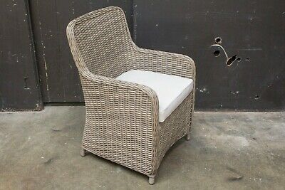 AU299 • Buy Malabar - PE Wicker Outdoor Dining Chair - Polyester Cushion