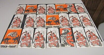 $ CDN26.42 • Buy Vintage Halloween Lot Of 33 Trick Or Treat Bags Unused Old Stock