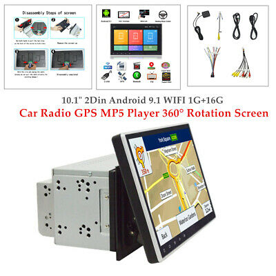 $236.16 • Buy 10.1  Android 9.1 WIFI 1+16G Car Radio Radio GPS MP5 Player 360° Touch Screen