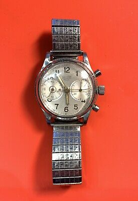 $ CDN819.30 • Buy Vintage ED Heuer 2 Register Chrono Chronograph Wrist Watch Wind