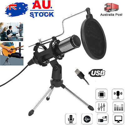AU26.74 • Buy Condenser 3.5mm & USB Microphone For PC ,YouTube, Skype And Gaming Studio Z0G9