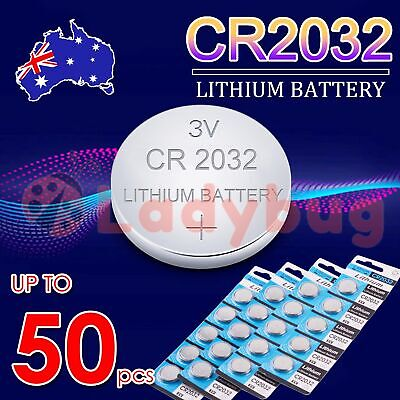 AU2.45 • Buy UP TO 50 Pcs CR2032 3V LITHIUM CELL Button BATTERY 2032 Batteries Car Key Toy OZ