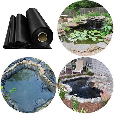 Garden Fish Pond Liners Outdoor Pool Durable HDPE Liner Membrane Various Sizes • 55.14£