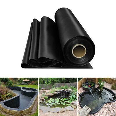 6 Sizes Garden Fish Pond Liners Outdoor Durable HDPE Liner Membrane Landscaping • 55.19£