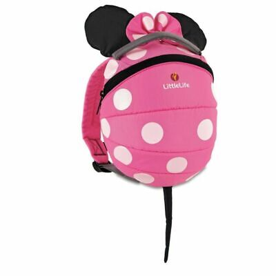 LittleLife Disney Toddler Minnie Mouse Backpack With Rein - Pink • 2£
