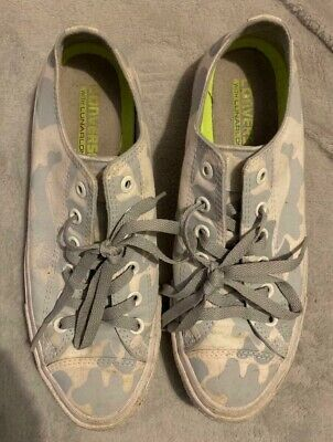 Converse All Star Grey Camouflage Women's Trainers Size 8 UK Preowned • 19.99£
