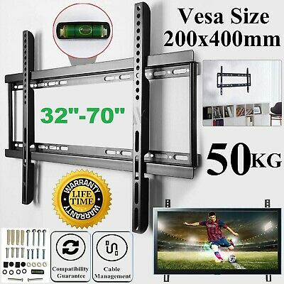 TV Wall Bracket Mount For 32 40 45 50 55 60 65 70 Inch LED LCD Plasma Slim Fixed • 11.49£