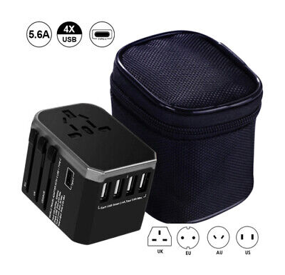 £13.19 • Buy Worldwide Travel Adapter, 4 USB Ports With 5.6A High Speed Charger