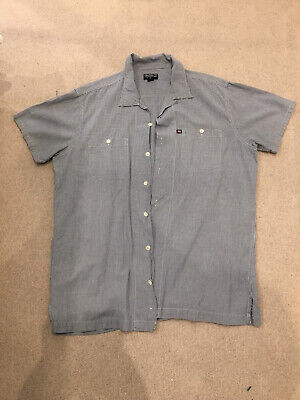 Polo Ralph Lauren Short Sleeved Shirt.  Blue Gingham . XL.  Excellent Condition. • 4.40£