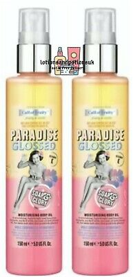 2 Soap & AND Glory Call Of Fruity PARADISE GLOSSED Moisturising Body Oil 150ml  • 18.95£