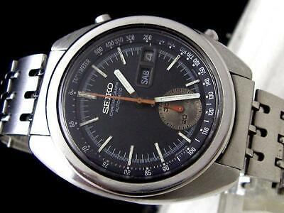 $ CDN800.61 • Buy Seiko 6139-6012 Vintage Chronograph Day Date SS Automatic Mens Watch Auth Works