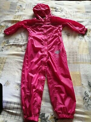 Girls All In One Waterproof Suit Pink Age 4 - 5 Years, (48 - 50 Months) Regatta  • 8.50£