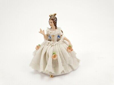 $ CDN46.25 • Buy Vintage Dresden Lace Porcelain Figurine Germany 1950's