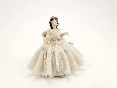 $ CDN59.47 • Buy Vintage Dresden Lace Porcelain Figurine Germany 1950's