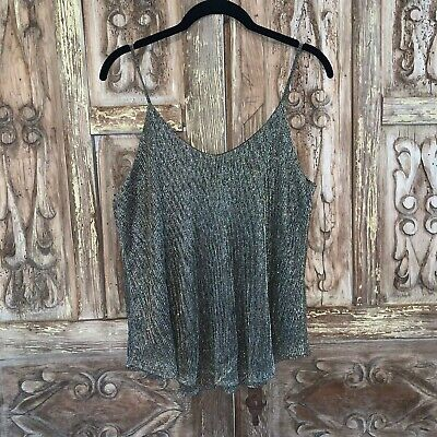 $ CDN30.39 • Buy Paper Crane Anthropologie Women's Size Small Top Sleeveless Flowy Tank Shimmer
