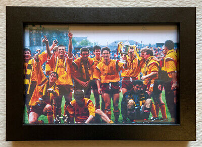 Motherwell Fc 1991 Scottish Cup Winners Team Picture Framed Gift New • 13.95£