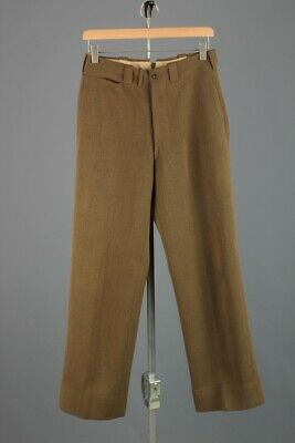 Men's 1940s WWII US Army Officer's Pants 29x31 1940s WW2 OD Vtg Trousers USAF • 36.57£