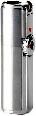JOBON Retro Flint Ignite Triple Torch Windproof Lighter/Cigar Punch - Silver • 16.83£