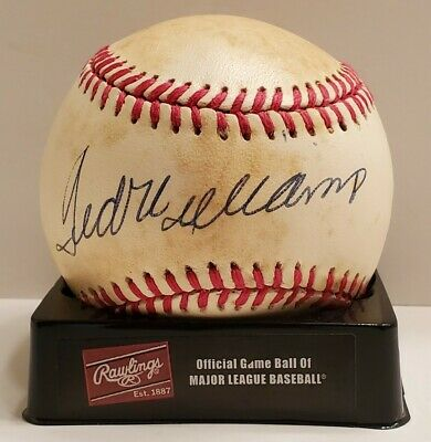 $ CDN462.51 • Buy Ted Williams Autograph Baseball Upper Deck UDA COA Red Sox Tripe Crown MVP Auto