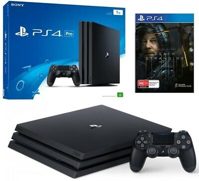 AU429 • Buy Sony PlayStation 4 PS4 Pro 4k HDR 1TB Console With Box And Death Stranding Game