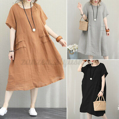 AU14.65 • Buy AU STOCK ZANZEA Women Summer Fashion Cotton Sundress Beach Club Party Midi Dress