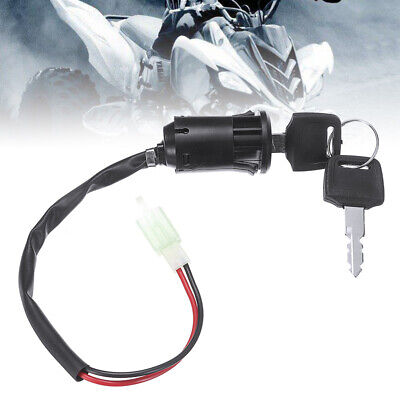 Motorcycle Ignition Barrel Key Switch 2 Wire On/Off Motorbike Switch New • 5.42£
