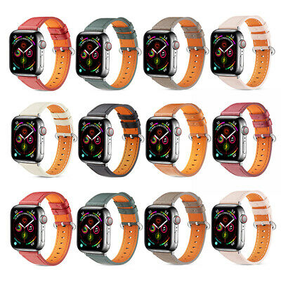 AU18.99 • Buy 42/44mm Genuine Leather Apple Watch Band For IWatch Series SE 6 5 4 3 2 1 38/40