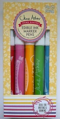 CAKE ICING INK MARKER PEN Edible Home Baking 5 Food Colours Biscuit Decoration  • 3.89£
