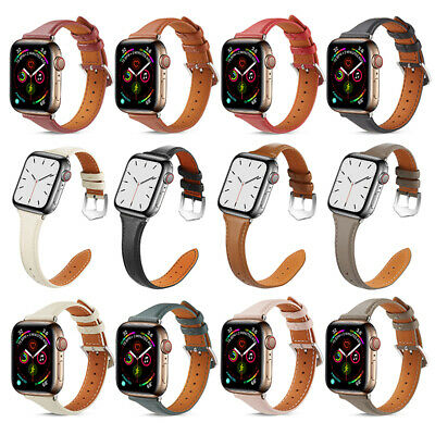 AU18.99 • Buy 42/44mm Genuine Leather Apple Watch Band For IWatch Series SE 6 5 4 3 2 1 Strap