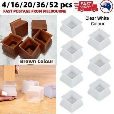 AU23.99 • Buy Square Silicone Dining Chair Leg Protector Cap Pad Table Feet Wood Floor Protect