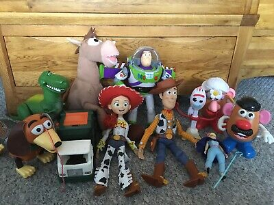 Toy Story Toys Bundle Interactive Woody And Buzz, Jessie, Bullseye, Rex And More • 20£