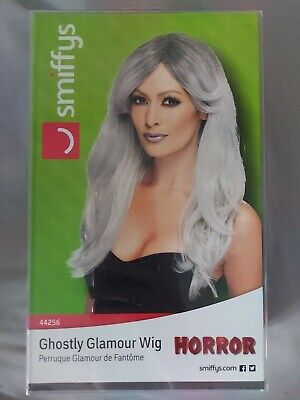 Grey Ombre Ghostly Zombie Bride Wig Ladies Fancy Dress Halloween New • 5£