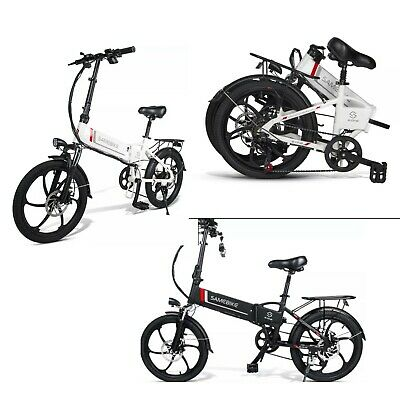 New Electric Bike 20 Inch Power Assist Foldable E-Bike 350W 48V Bicycle 2 Colors • 169£
