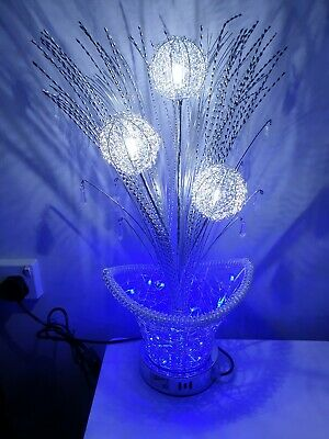 LED Flower Vase Aluminium Wired Large Table Desk Floor Lamp Modern   • 49.99£