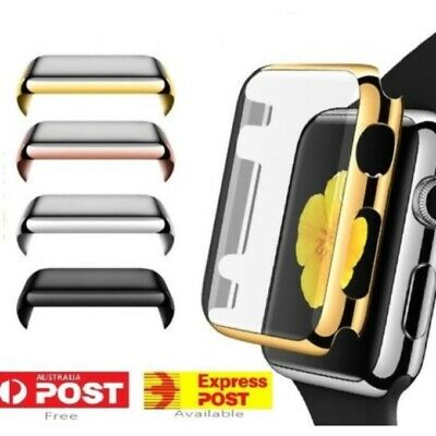 AU5.95 • Buy For Apple Watch 6 5 4 3 2 IWatch Screen Protector Case Full Coverage 38/40/42/44