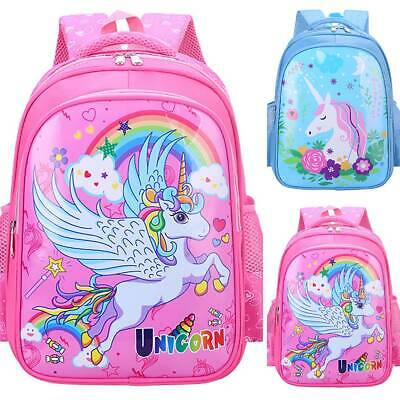 AU32.10 • Buy Kids Girls Cartoon Unicorn Backpack Kindergarten Rucksack Shoulder School Bag