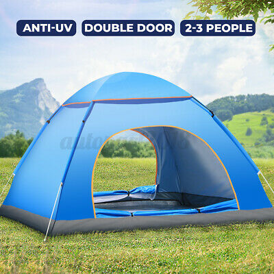 AU35.35 • Buy 3-4 Man Persons Automatic Tent Outdoor Hiking Waterproof Sports Camping Fishing