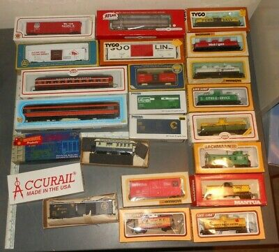 $ CDN196.36 • Buy 26 Vintage HO Scale Rolling Stock Lot Tyco Bachmann AHM Athearn Etc Trains Boxed