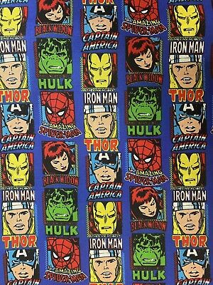 Marvel Avengers Super Hero's Hulk 100% Cotton Fabric 50cm X 55cm • 4£