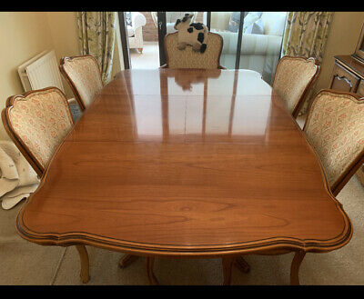 Younger - Cherrywood Extendable Dining Table With 6 2  Are Carver • 250£