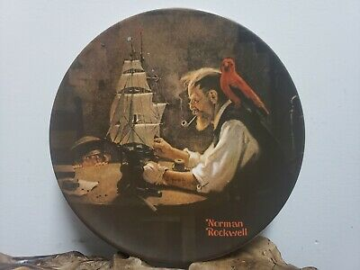$ CDN20.35 • Buy Knowles Plates - Decorative Plate - Norman Rockwell - The Ship Builder