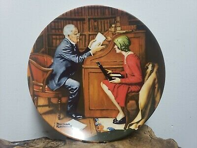 $ CDN20.35 • Buy Knowles Plates - Decorative Plate - Norman Rockwell - The Professor