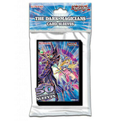 50 PACK: The Dark Magicians Card Sleeves NEW & SEALED Yu-Gi-Oh! Multibuy Offer • 4.60£