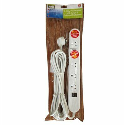 AU35.75 • Buy Mort Bay 6 Way White 5m Surge Protected Powerboard
